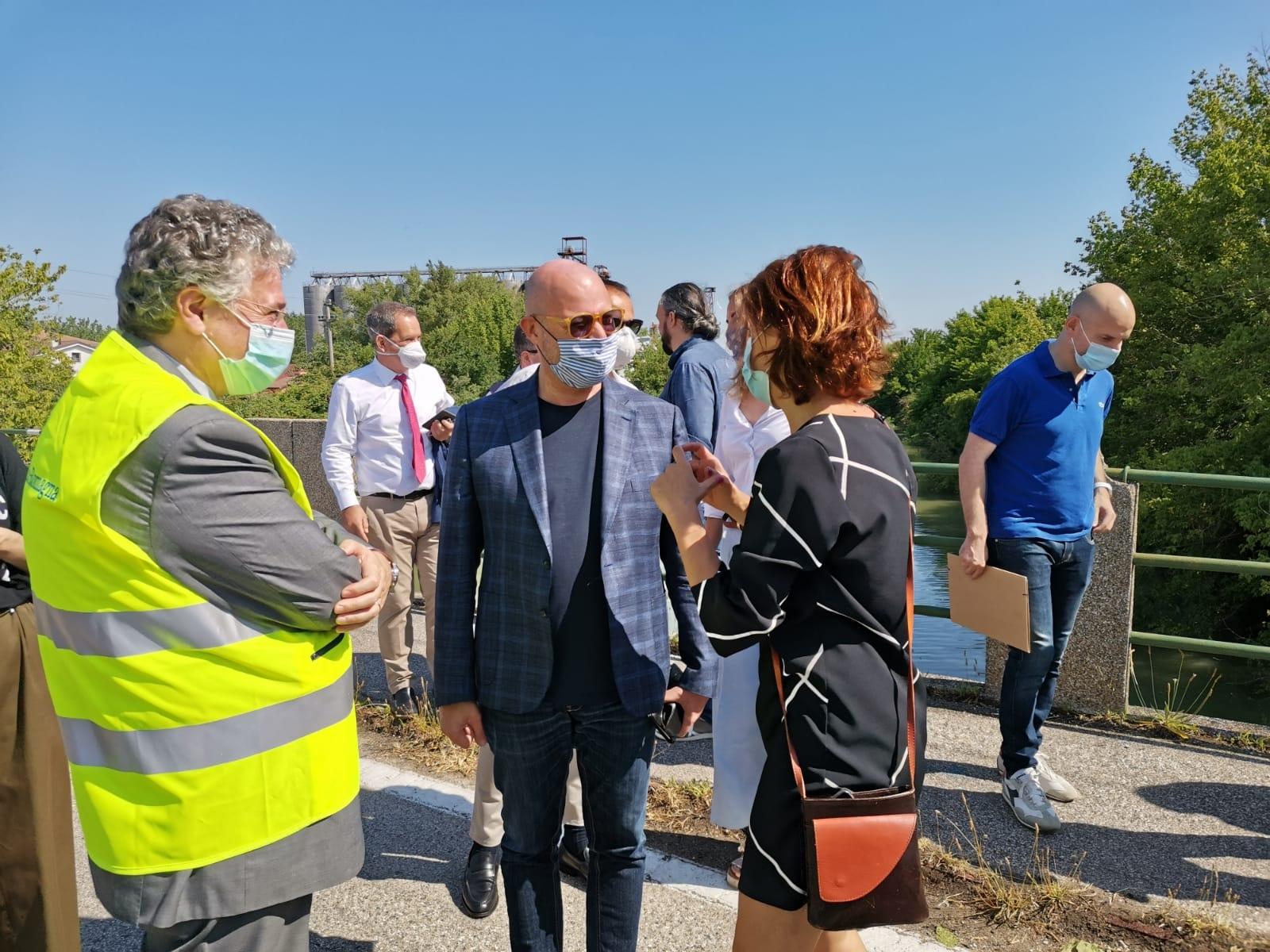 Nella foto il presidente della Regione Emilia-Romagna, Stefano Bonaccini, e la presidente della Provincia, Barbara Paron