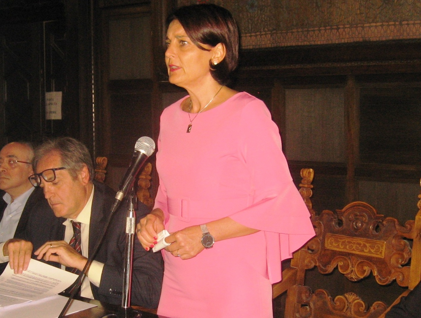 Nella foto la presidente della Provincia Barbara Paron