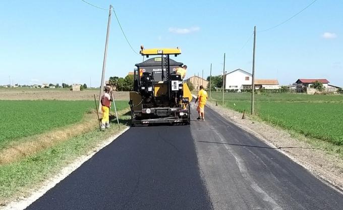 I lavori in corso sulla viabilità comunale